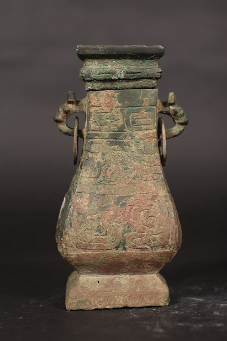 chinese ancient Ding pot with top cover - 2