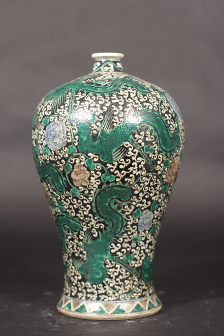 ming dynasty pot feature art of phoenix painting