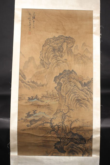 chinese painting of mountain view