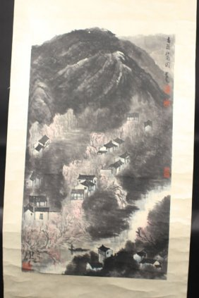Chinese Painting Of Houses