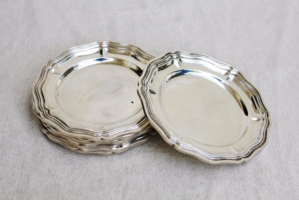 9: Sterling Silver Bread and Butter Plates