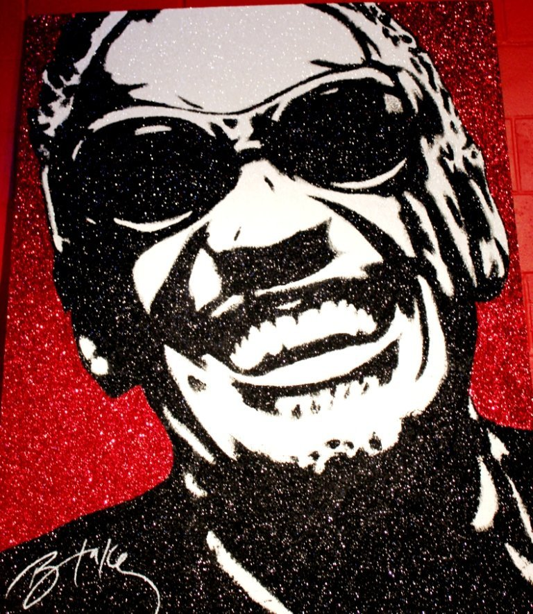 10: Original Ray Charles Crystalized Art- Blake Ballard
