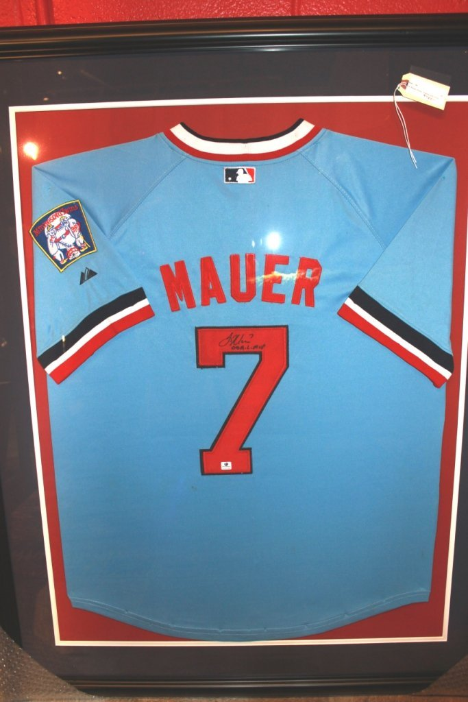 22: Joe Mauer Minnesota Twins Signed Jersey w COA
