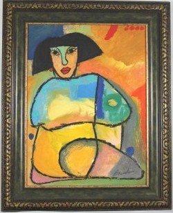 5: Original Oil / Art By J. C. Breceda- Woman Close-Up