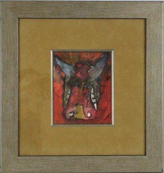 7: Original Watercolor / Art By J. C. Breceda- Bull