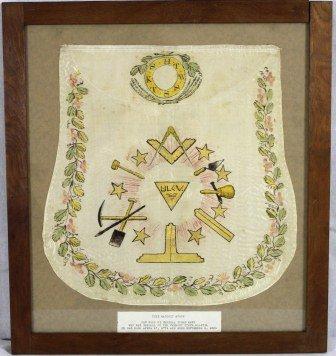 9: 18th/19th Century, Pre Civil War Masonic Apron