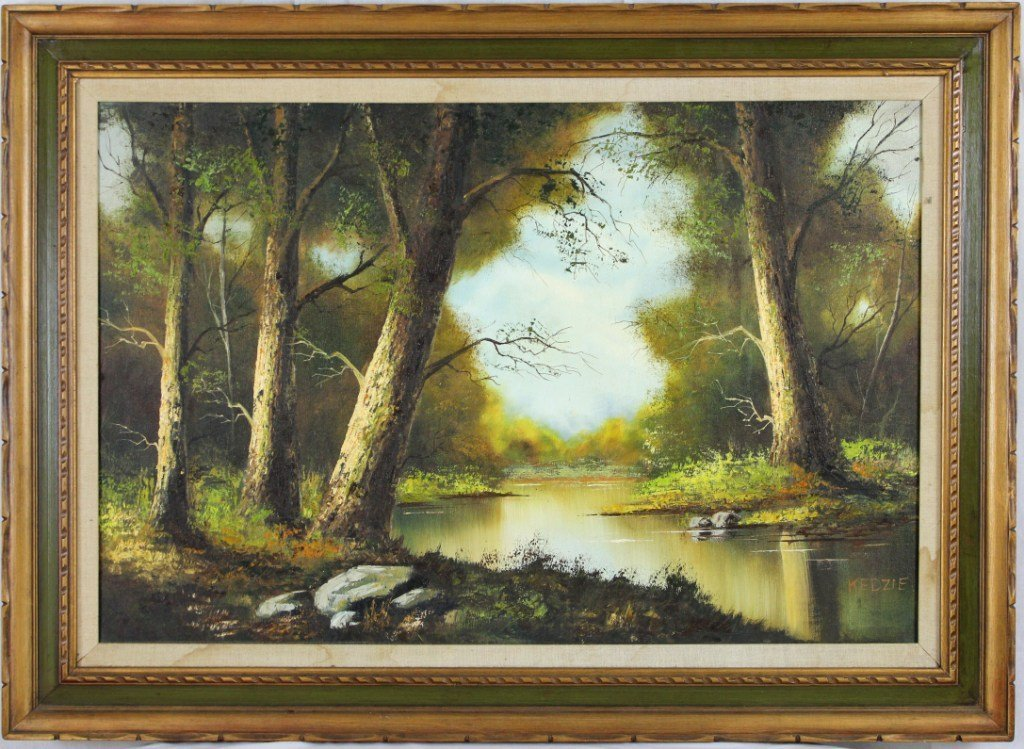 12: Oil Painting on Canvas/Art Signed by Artist Kedzie