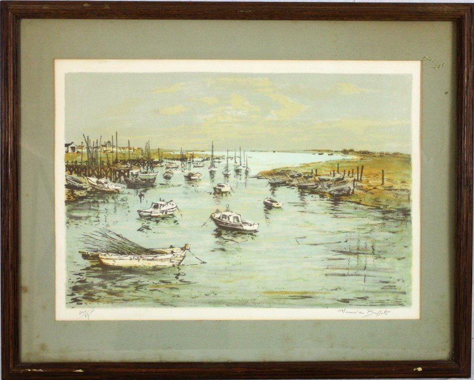 18: Maurice Buffet Limited Edition Signed Print w COA