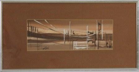 21: Mid-Century Abstract Painting by Hotchkiss / Art