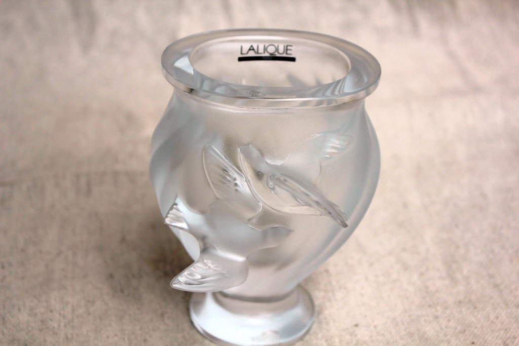 French Lalique Crystal Vase