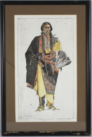 Signed Quanah Parker by P. Harrison Smith ca. 1845-1852