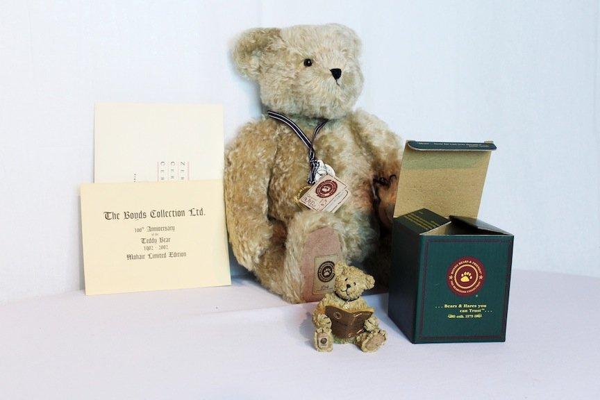 Boyd's Original Mohair Bear in Box with COA