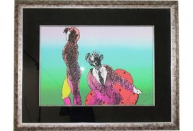 Across the Room Framed Print by Peter Max