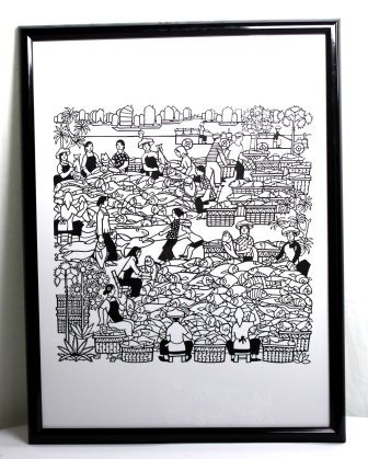 Framed Chinese Paper-Cut