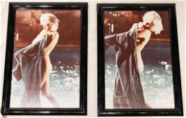 1962 Pair of Marilyn Monroe Framed Prints