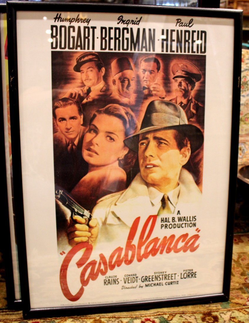 Casablanca Framed Classic Movie Art