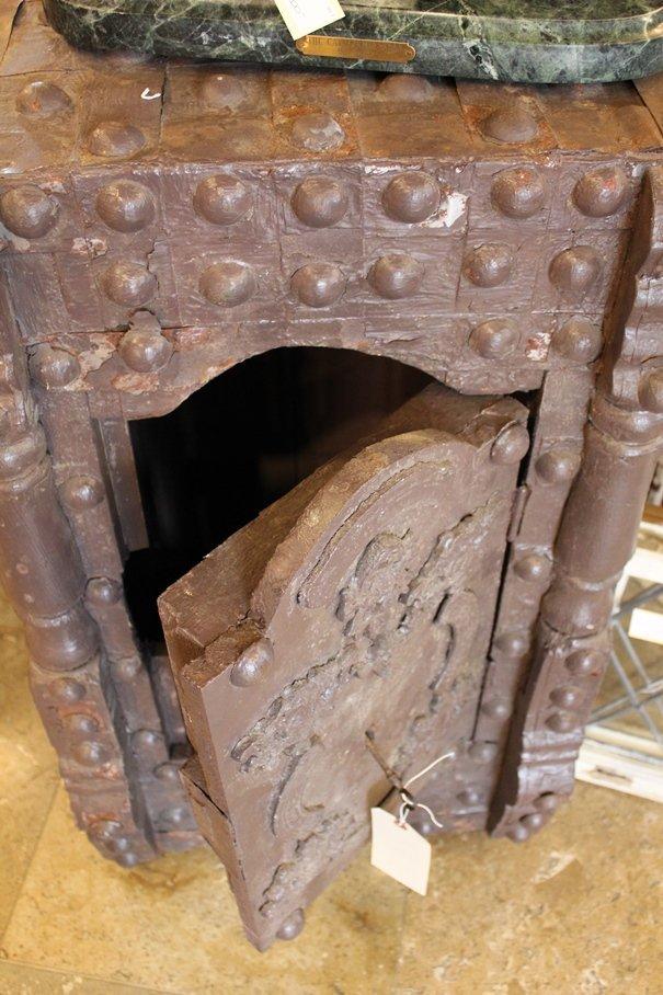 Antique Hobnail Safe - 4
