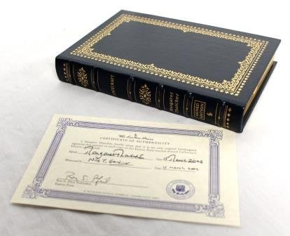 Signed Margaret Thatcher Statecraft Book w/ COA