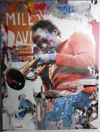 """Original Jim Hudek """"Miles in Color"""" Miles Davis"""