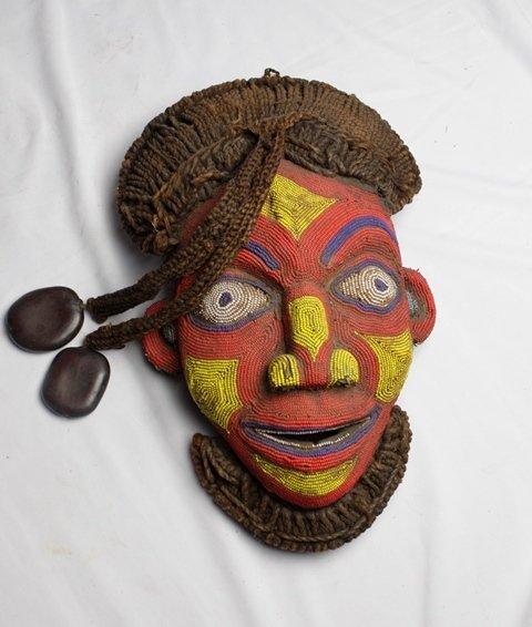 Bamileke Beaded African Mask