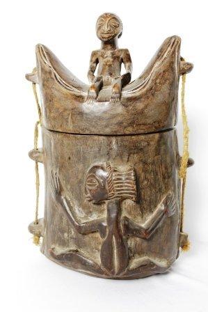 African Lidded Box/Purse