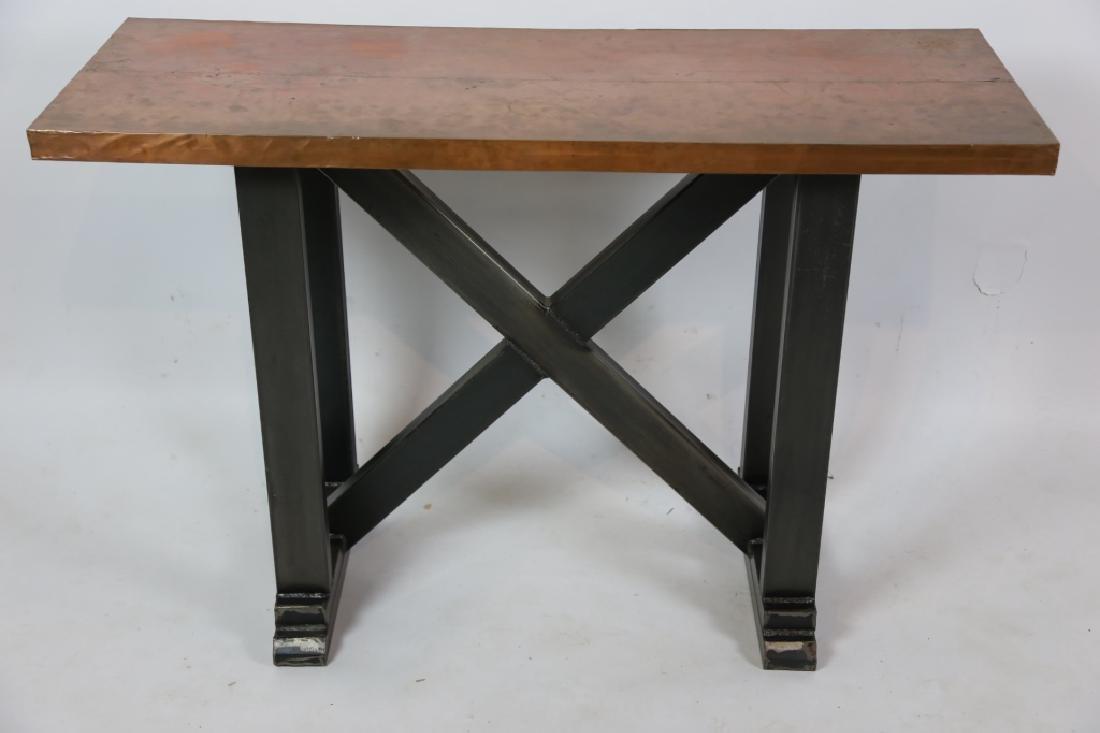 COPPER TOPPED PASTRY TABLE
