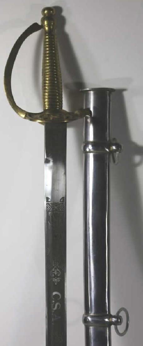 CONFEDERATE SOLDIERS CAVALRY SABRE SWORD & SCABARD - 3