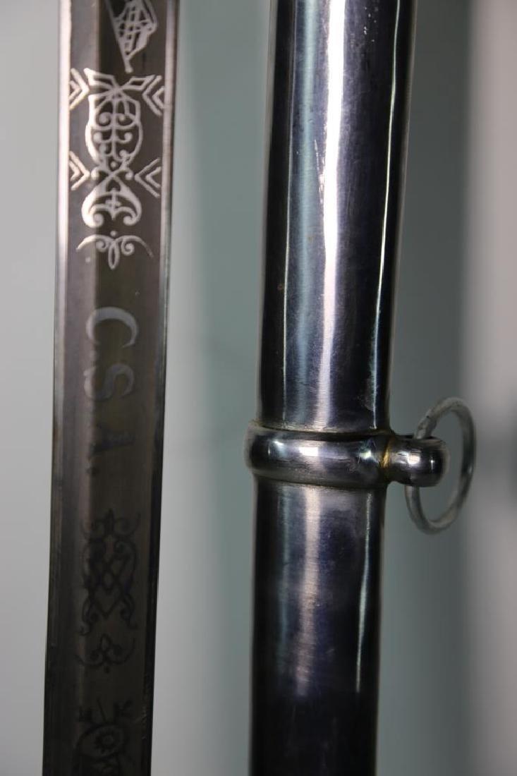 CONFEDERATE SOLDIERS CAVALRY SABRE SWORD & SCABARD - 8