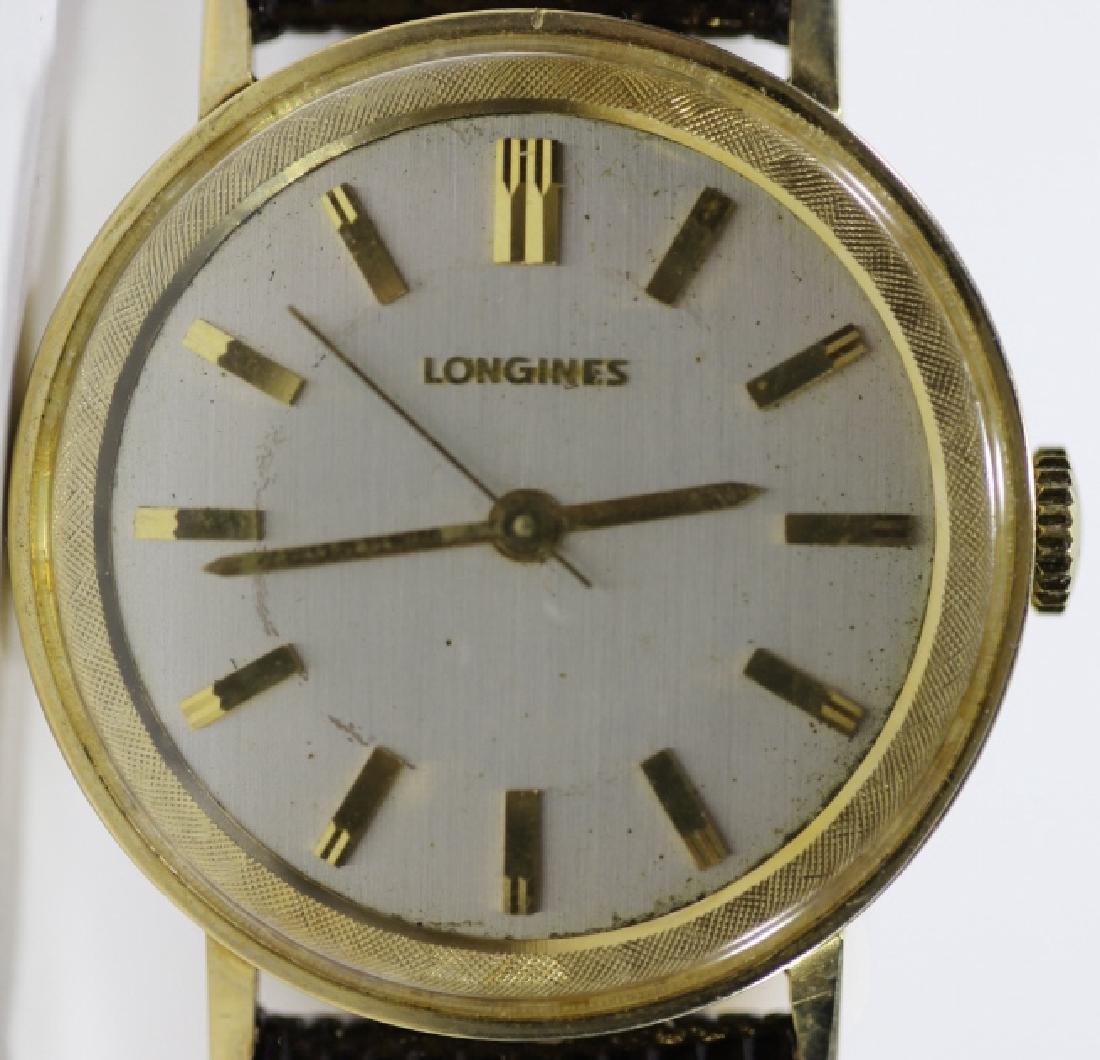 LONGINES SOLID GOLD VINTAGE MENS WATCH - 2