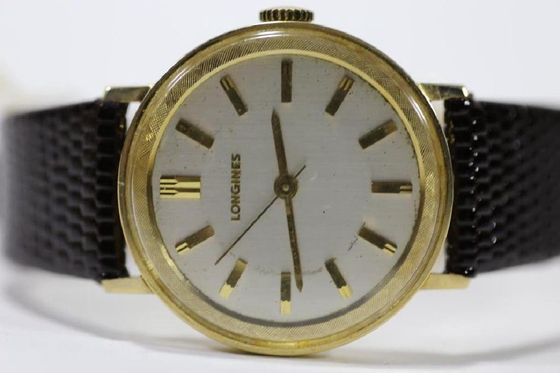 LONGINES SOLID GOLD VINTAGE MENS WATCH - 3