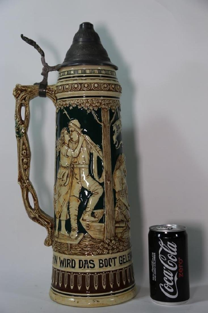 ANTIQUE PALATIAL GERMAN STEIN