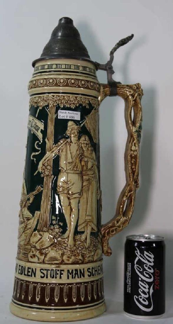 ANTIQUE PALATIAL GERMAN STEIN - 2