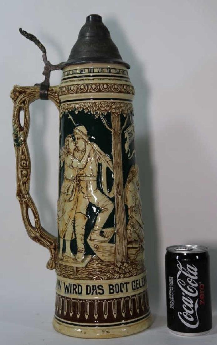 ANTIQUE PALATIAL GERMAN STEIN - 3