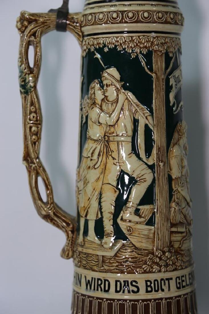 ANTIQUE PALATIAL GERMAN STEIN - 4