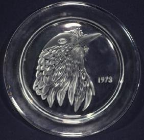 LALIQUE FRENCH 1973 AMERICAN COMMEMORATIVE CHARGER