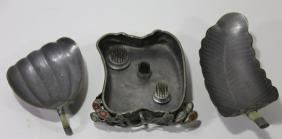 CHINESE ANTIQUE JADE, PEWTER & HARDSTONE GROUPING