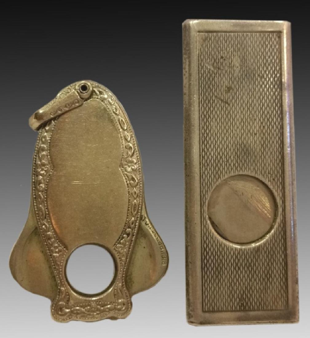 STERLING SILVER FINE HAND CHASED CIGAR CUTTERS - 2