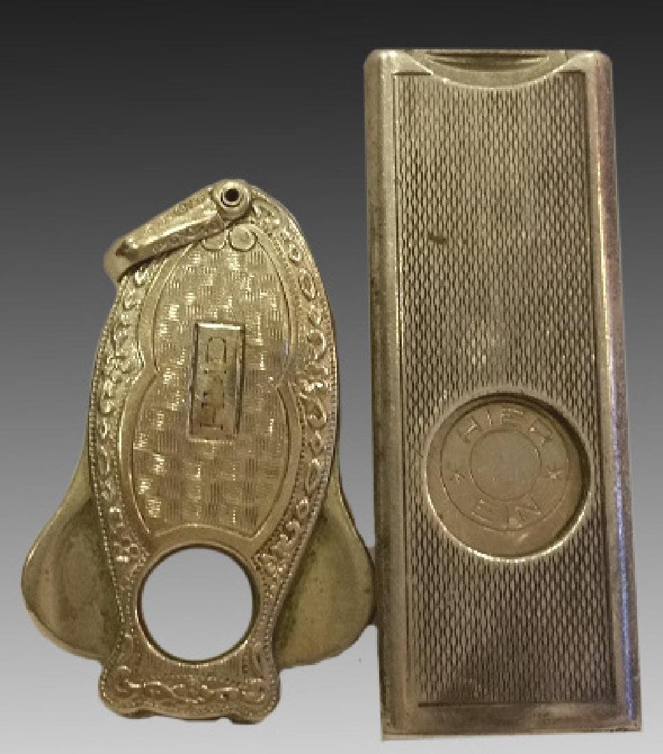 STERLING SILVER FINE HAND CHASED CIGAR CUTTERS - 3