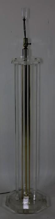 MIDCENTURY  MODERN LUCITE FLOOR LAMP