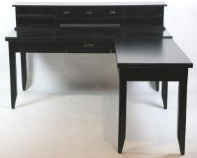 MODERN EBONIZED L SHAPE DESK