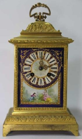 FRENCH ANTIQUE BRONZE CLOCK