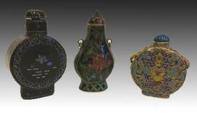 CHINESE SNUFF BOTTLE GROUPING