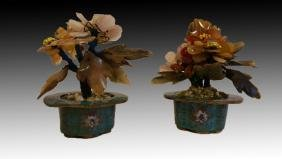 CHINESE MINIATURE CLOISONNE JARDINIERES