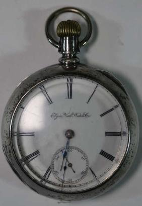 ELGIN NATIONAL WATCH CO. COIN SILVER POCKET WATCH
