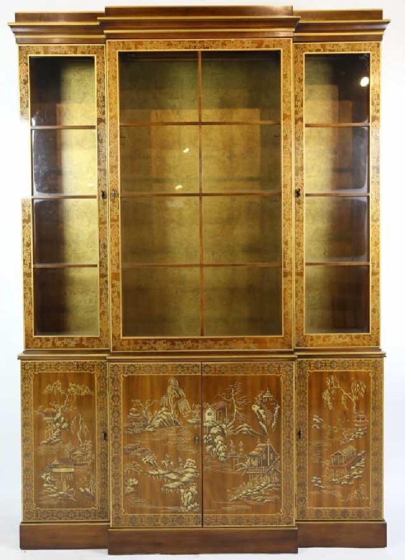 CHINOISERIE HAND DECORATED VERY FINE BREAKFRONT