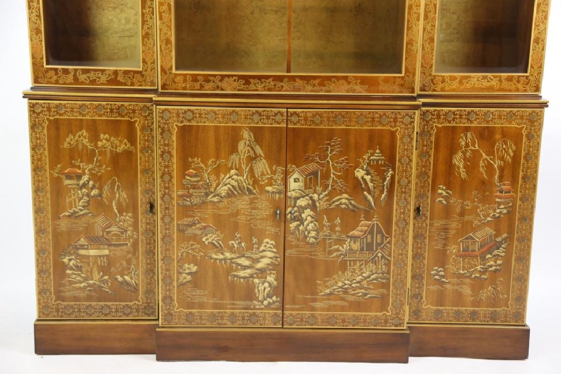CHINOISERIE HAND DECORATED VERY FINE BREAKFRONT - 2
