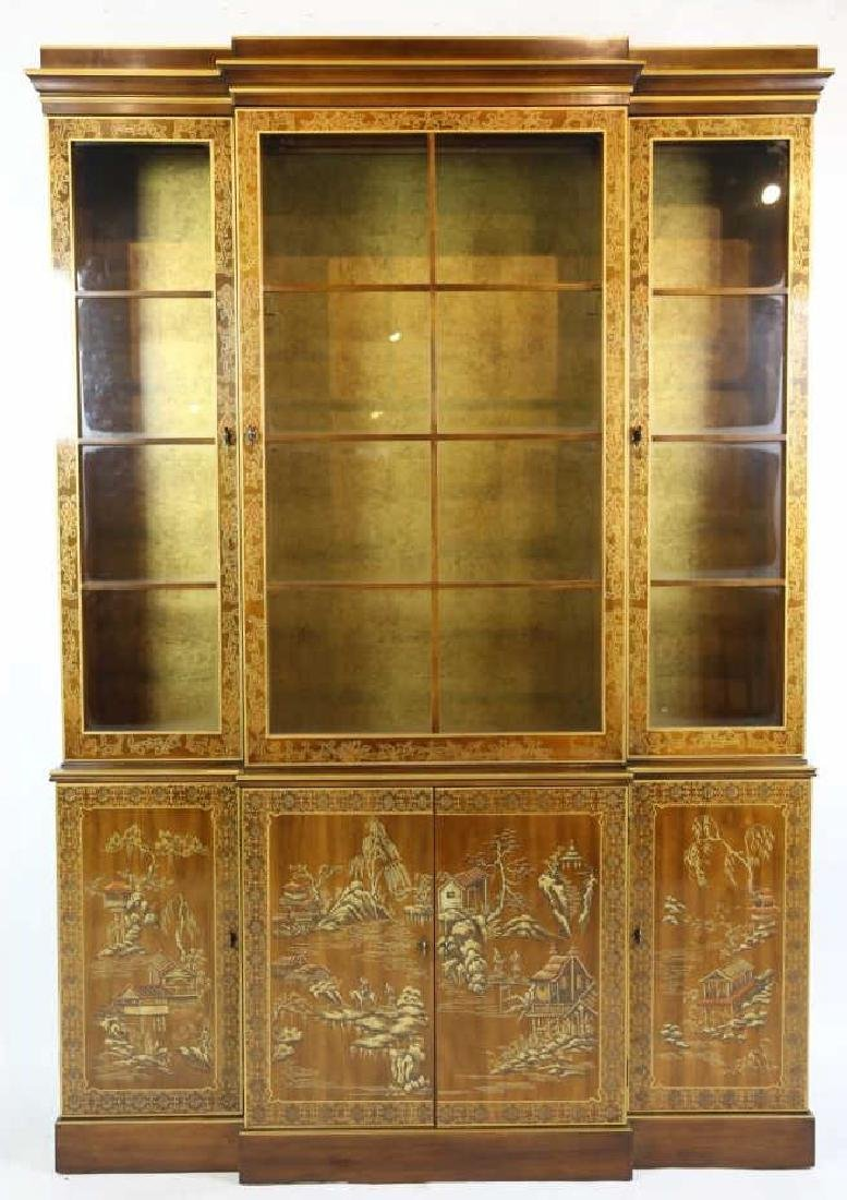 CHINOISERIE HAND DECORATED VERY FINE BREAKFRONT - 3