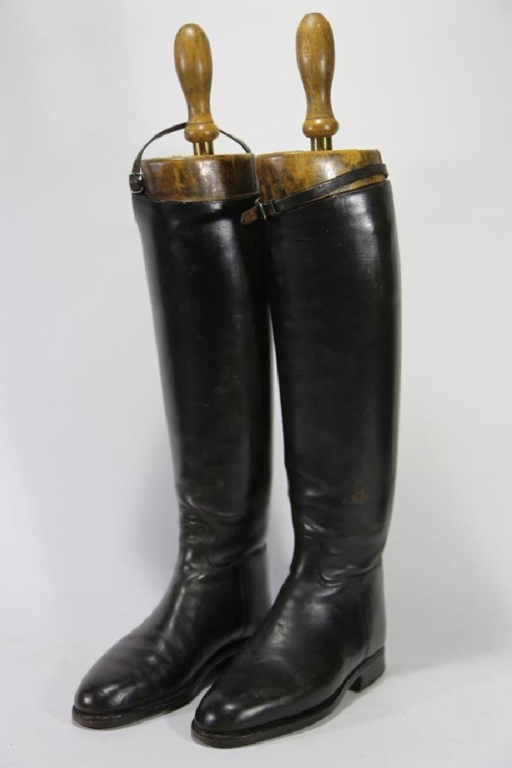 TIM HILL LONDON ANTIQUE RIDING BOOTS WITH TREES - 4