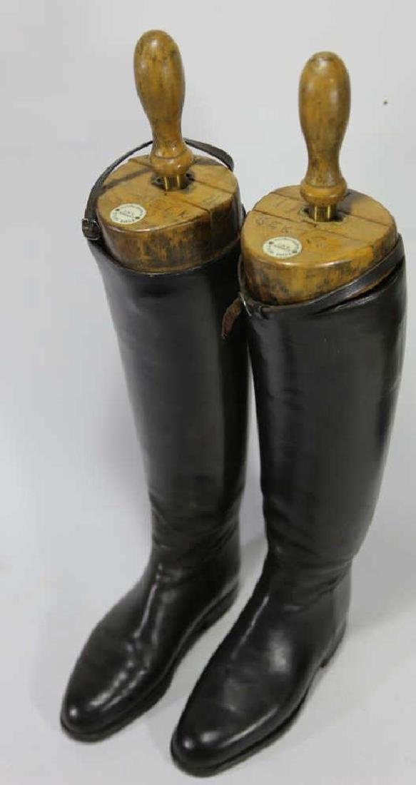 TIM HILL LONDON ANTIQUE RIDING BOOTS WITH TREES - 5