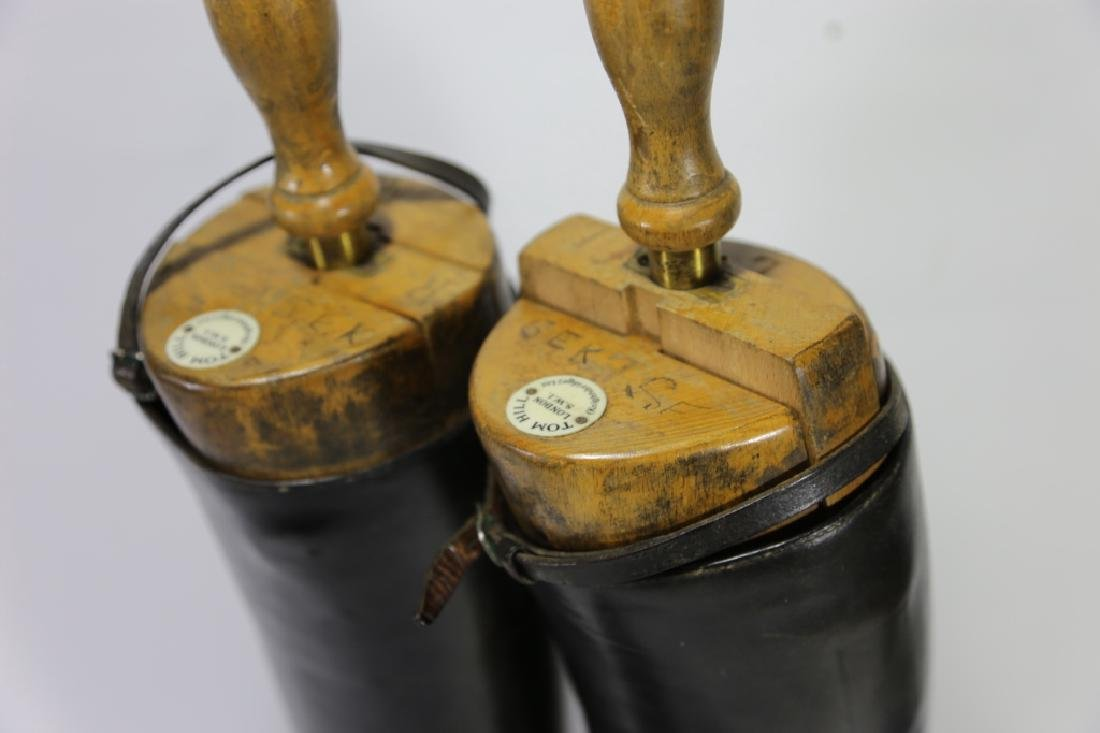 TIM HILL LONDON ANTIQUE RIDING BOOTS WITH TREES - 8